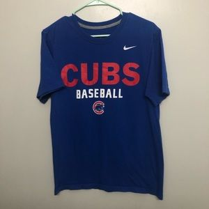 Nike Chicago Cubs t shirt blue small